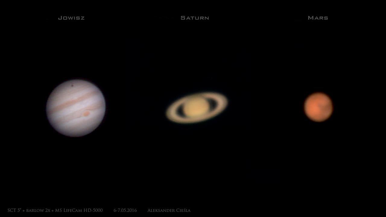 Trzy planety 6-7.05.2016